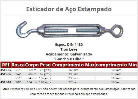 Esticadores p/ cabo de Aço